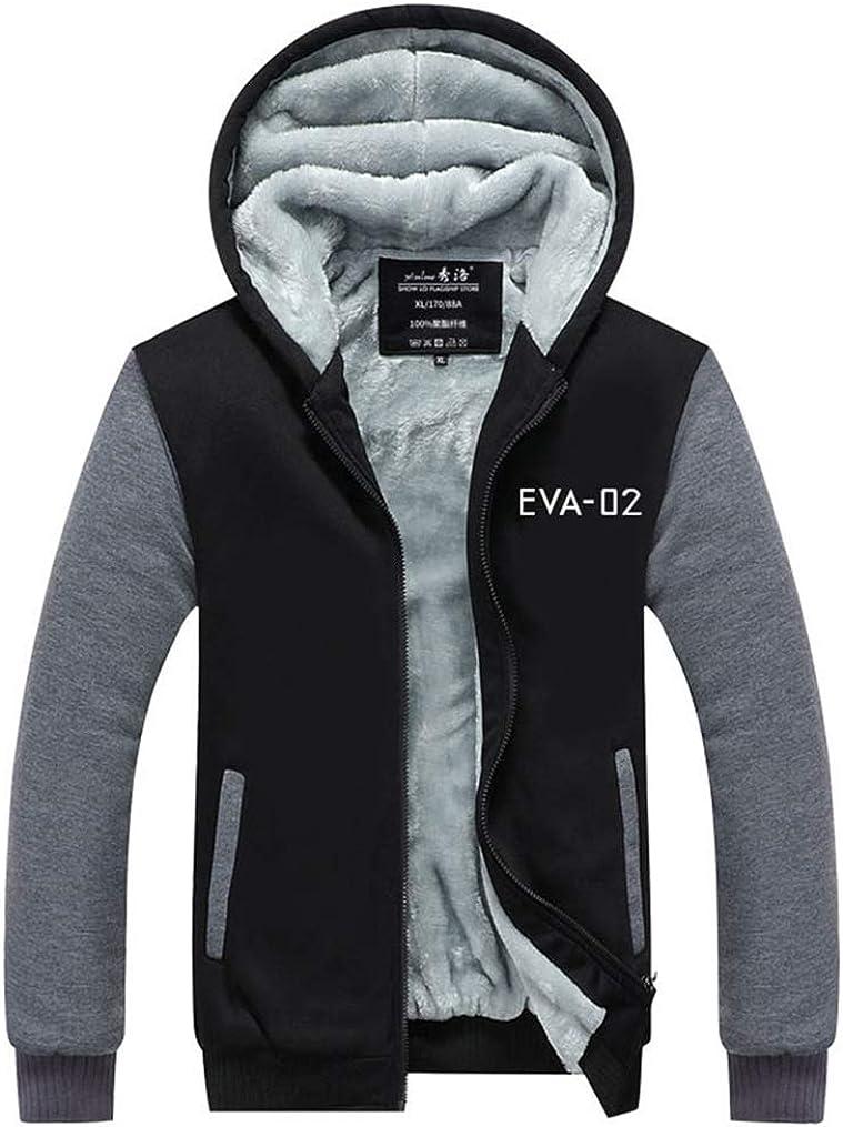 Gumstyle EVA Neon Genesis Evangelion Anime Unisex Full-Zip Hoodie Coat Winter Thicken Fleece Warm