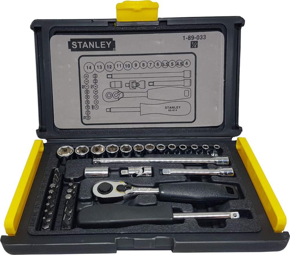 ed2ece0e4 Stanley 1-89-033 Socket and Bit Mechanic Tool Kit