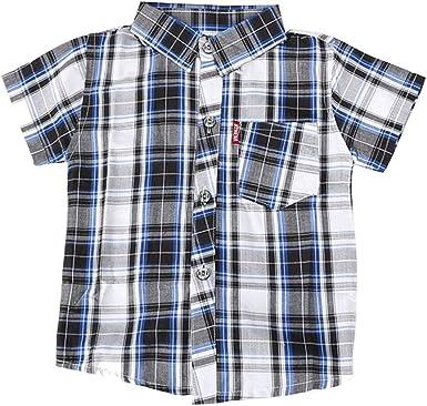 Fairy Baby Niños Chicos a Cuadros Camisa Plaid Clásico Ropa: Amazon.es: Ropa y accesorios