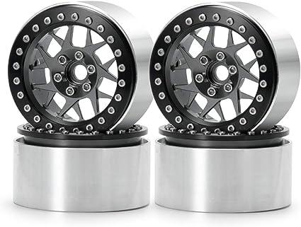 "4PCS Alloy Beadlock 2.2/"" Wheel Rim For RC 1//10 Axial Wraith RR10 SCX10 TRX-4 D90"