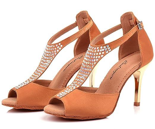 XIE66 Zapatos de Baile de salón para Mujer Salsa Latina