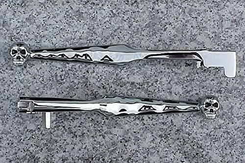 i5 Chrome Skull Front Brake /& Clutch Levers for Kawasaki Vulcan EN 500 VN 800 900 2000 Classic Custom Drifter LT 1990-2020.