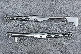 i5® Chrome Skull Brake & Clutch Levers for Kawasaki Vulcan 500 800 900