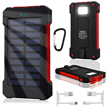 Waterproof Solar Power Bank Cargador 10000 mAh Micro USB ...
