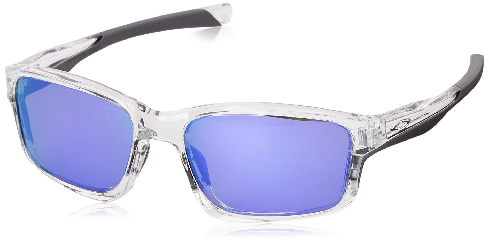Oakley Mens Chailink OO9247-06 Non-Polarized Ractangular Eyeglasses, Polished Clear, 57 mm