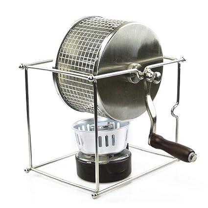 Comaie Tostador Manual de Acero Inoxidable con Quemador Manual Ideal para Barbacoa en casa, Cocina