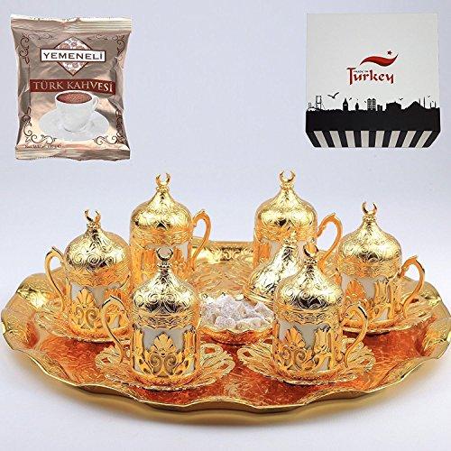 traditional turkish coffee set,oriental coffee set,arabian coffee set,morrocan coffee set unique coffee set by otantik (Image #1)