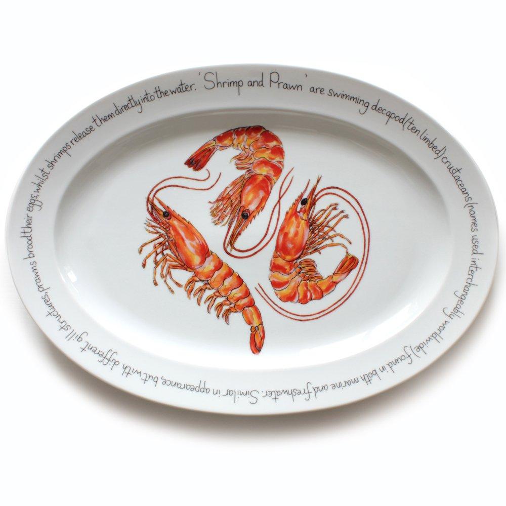 Jersey Pottery - Plato Ovalado Grande - Cangrejo, Color ...