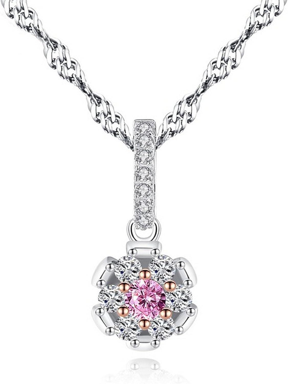CS-DB Pendants Crystal Silver Necklaces