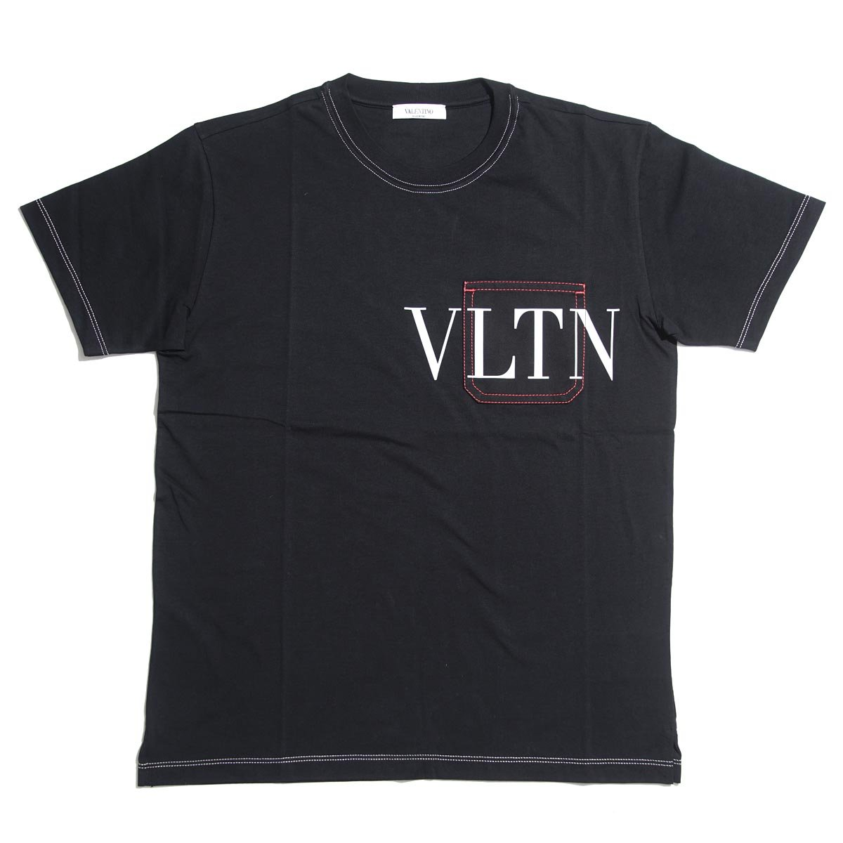 (ヴァレンティノガラヴァーニ) VALENTINO GARAVANI クルーネック Tシャツ/VLTN [並行輸入品] B07CLLV8BL XS|ブラック ブラック XS
