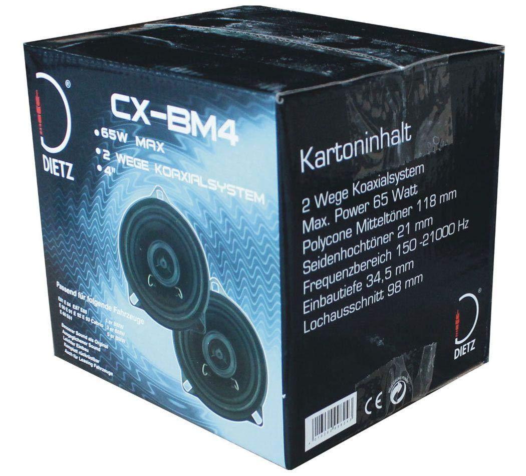 1 Paar//2St/ück Dietz CX-BM4 Lautsprecher f/ür BMW 1er 3er und 5er