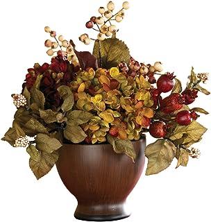Amazon nearly natural 4928 peony and hydrangea silk flower nearly natural 4680 autumn hydrangea with round vase multi color mightylinksfo Gallery