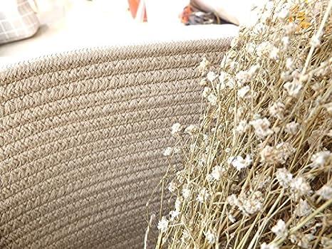W/äschekorb mit Griffen Kleidung TSHOME Gestrickter Aufbewahrungskorb 43/x 25/cm beige rund f/ür Spielzeug