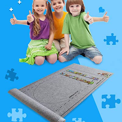 Jigsaw Puzzle Mat Roll Up Set-Jigroll Up to 1500 Pieces Puzzle Saver Large Puzzles Board for Adults Kids-Preserve Your Finished Puzzle: Toys & Games
