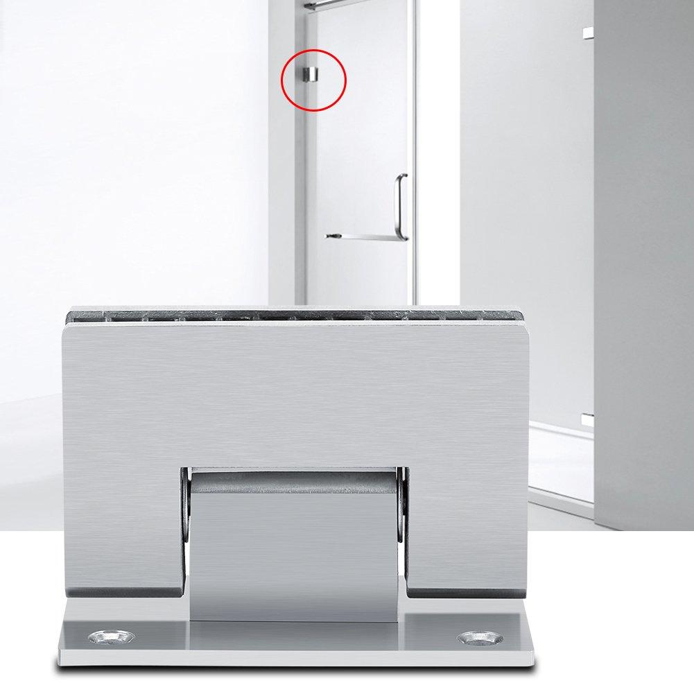 FTVOGUE Bisagra Puerta Cristal 90/º Pared sin Marco Clip Ducha de Cristal 8//–/10/mm