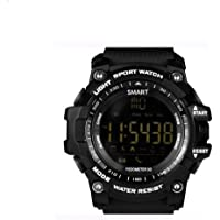 OPTA SW-007 Black color outdoor sports and fitness Bluetooth Smart Watch with IP67 Waterproof technology, Pedometer, Running and low power consumption With facebook and whatsapp notifications and alarm reminders, Android and IOS compatible (Black color, TPU Strap, free size)
