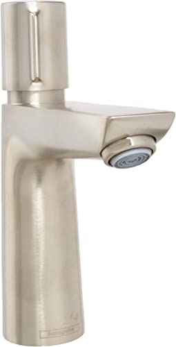 hansgrohe Talis Select E Modern Easy Install Easy On Off -Handle 1 7-inch Tall Bathroom Sink Faucet in Brushed Nickel, 71750821