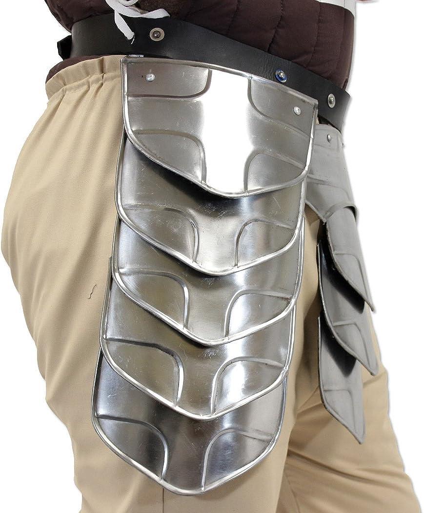 Hung Warrior Knights Tasset Belt Armour Plated Steel Waist Fauld Belt Halloween