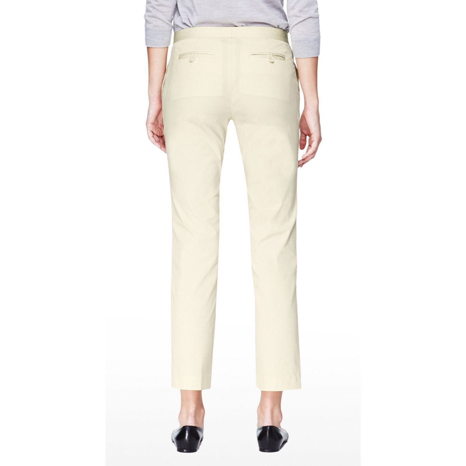 Theory Yellow Item Cropped Pants