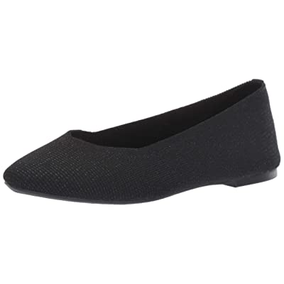 Skechers Women's Cleo-Skokie-Metallic Engineered Knit Skimmer Ballet Flat | Flats