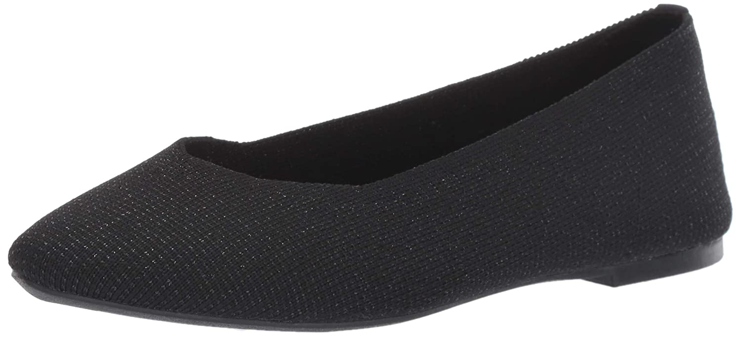 SKECHERS LADIES BLACK Air Cooled Memory Foam Ballerina Flats