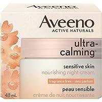 Aveeno Ultra Calming Night Moisturizer, Cream for Dry and Sensitive Skin, 48 mL