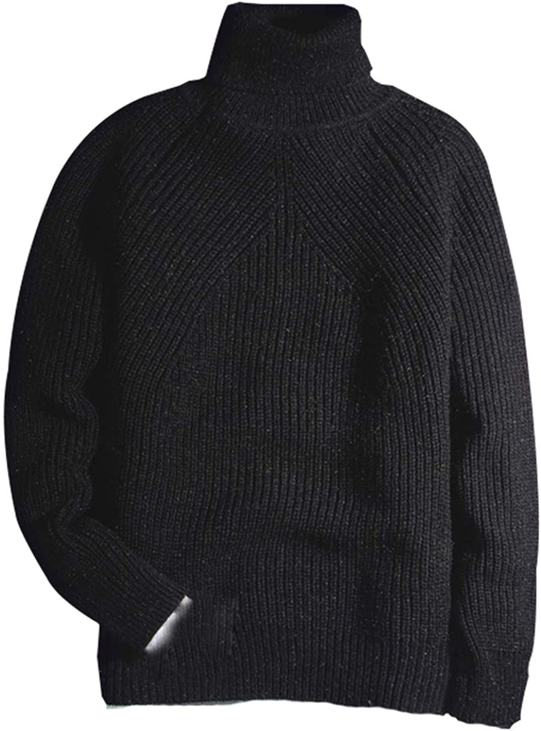 Friendshiy Sweater Man 2019 Winter Thick Turtleneck Mens Pullover Sweaters Casual Crocheted Striped Knitted,XX-Large,ArmyGreen2