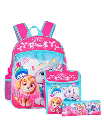 "Paw Patrol Girl 16"" Backpack And Back to School Essentials 5 ..."