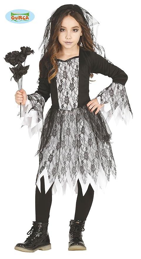 Guirca Costume sposa cadavere zombie carnevale halloween bambina 8732  4fd2917136dd