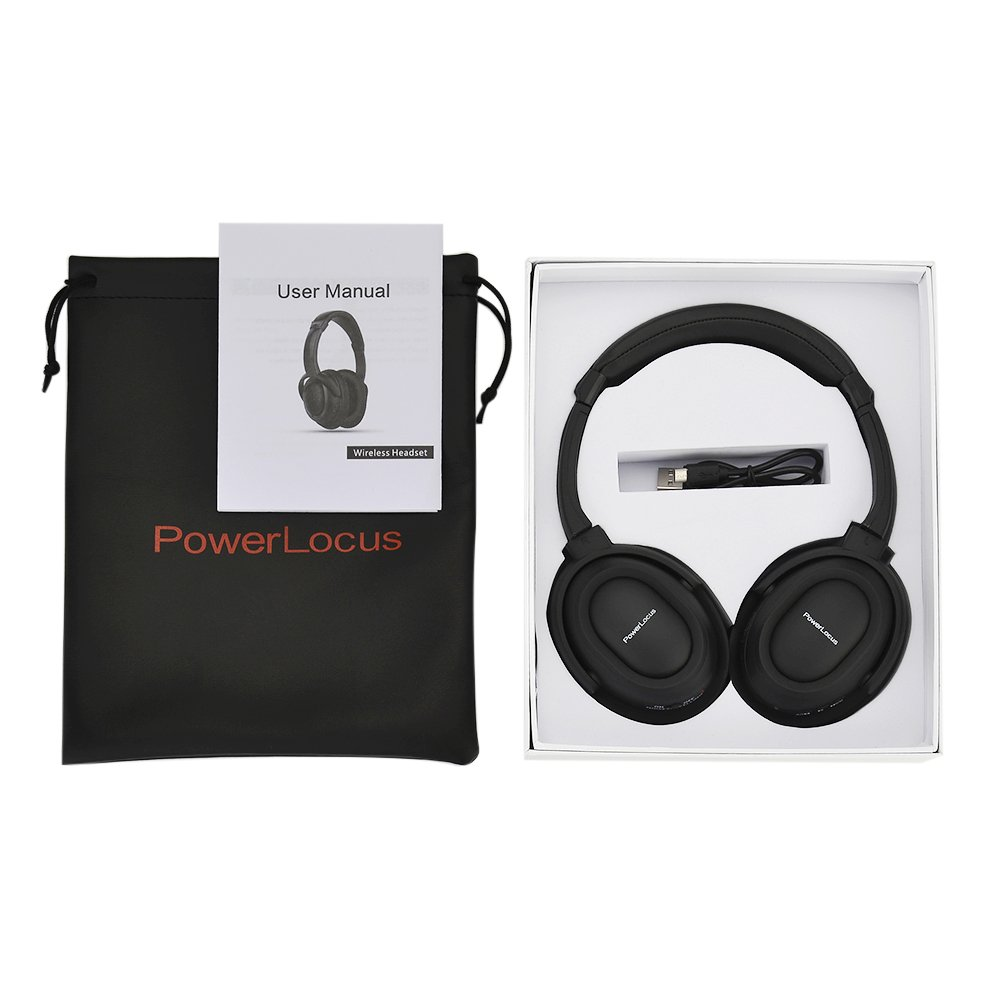 Powerlocus Wireless Active Noise Cancelling Bluetooth Over Ear Stereo Headphones Viralix