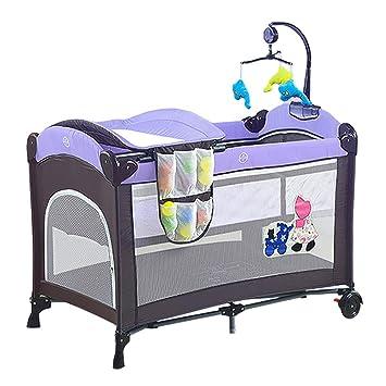 Cambiador Bebe, La Mesa cambiante Multifuncional portátil para bebés con Ruedas, se Puede Utilizar como Parque Infantil para niños pequeños y como una Cama ...