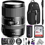 Tamron 16-300mm f/3.5-6.3 Di II VC PZD Macro Lens for CANON DSLR Cameras w/ Advanced Photo and Travel Bundle