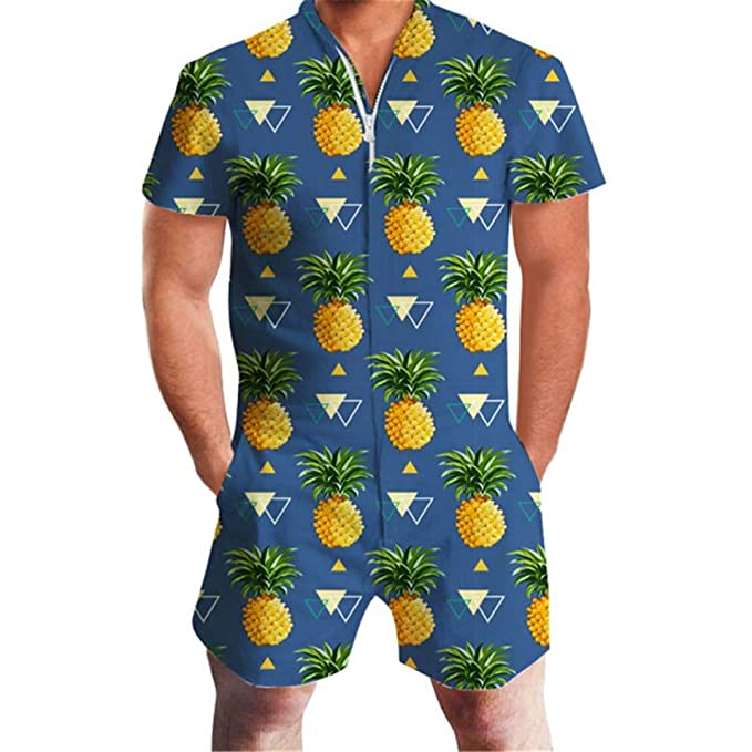 baby 50% off latest Amazon.com: LianShenang Pineapple Print Men Romper Hawaii ...