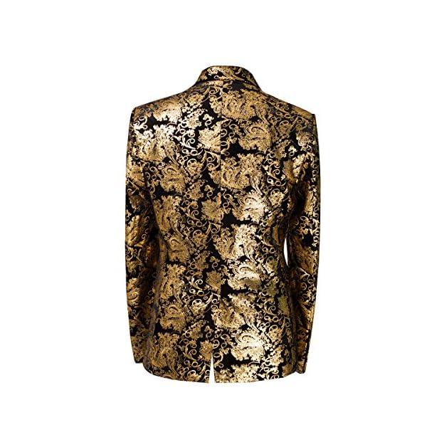 af7f0acfbb5 Cloudstyle Cloud Style Men s Dress Floral Suit Notched Lapel Slim Fit  Stylish Blazer