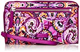 Vera Bradley Iconic Rfid Front Zip Wristlet, Signature Cotton, Dream Tapestry