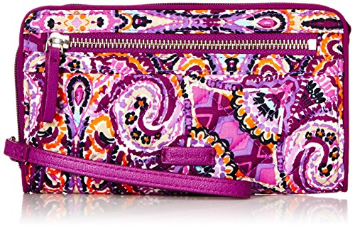 Vera Bradley Iconic Rfid Front Zip Wristlet, Signature Cotton, Dream Tapestry by Vera Bradley