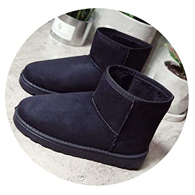Spinning Snow Boots Winter Women Ankle Boot Fashion Flat Booties Keep Warm  Woman Cotton Shoes Botas f80e243853be