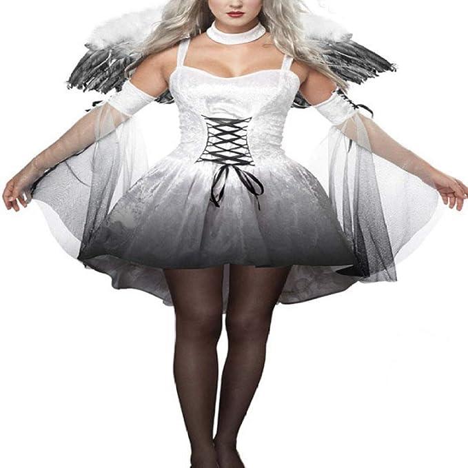 XIEPEI 2019 - Disfraz de ángel Oscuro Sexy de Halloween para Mujer ...