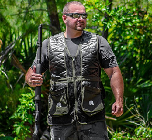 Challenger Sporting Clays Pigeon Trap Skeet Shooting Vest Sizes M Thru 2XL (Medium (38-40))