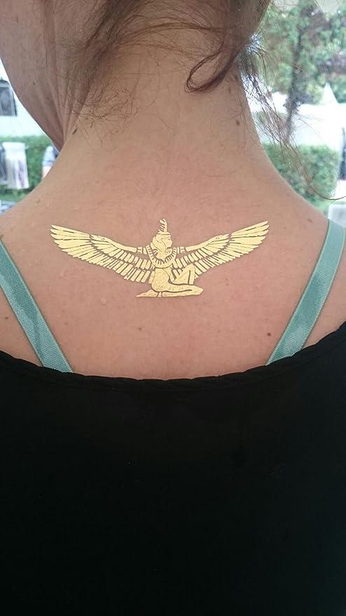 Tatuajes temporaires metálicos Dessins égyptienstatouages Flash ...