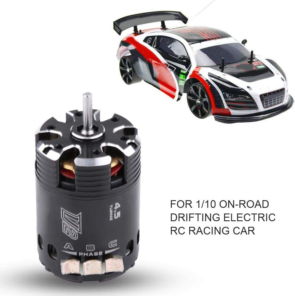 RC Car Brushless Motor 540 4.5T V3 Sensored Brushless Motor for 1//10 On-road Drifting Electric RC Racing Car Accessory Parts