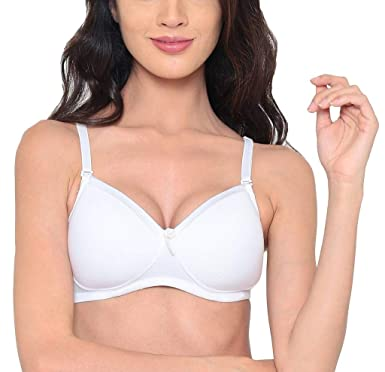09e0d6395c23e LAAVIAN Women s Wirefree Padded Cups Soft Modal T-Shirt Bra with Detachable  Multiway and Shoulder