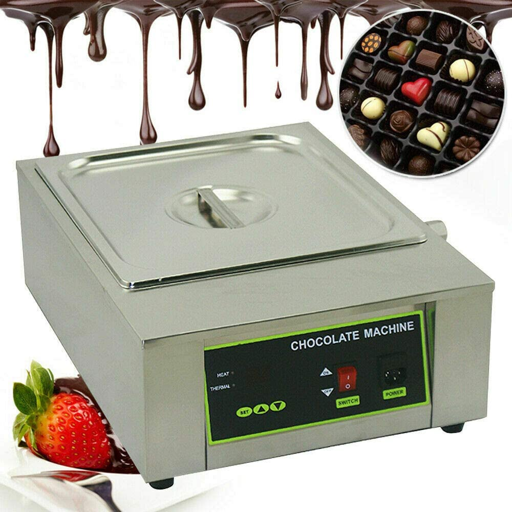 Electric Chocolate Melting Pot Machine Commercial Chocolate Heater 1000W Butter Cheese Thermostat Melt Warmer for DIY Home Restaurant Bakery