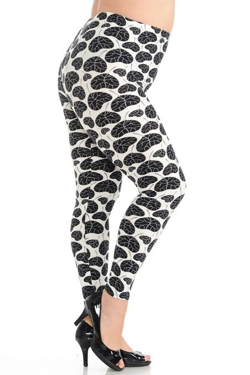 Leggings Depot Ultra Soft Women's Printed Extra Plus Fashion Leggings Batch4 61IfITxNhRL