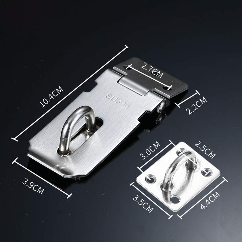 Hasp Cadenas en acier inoxydable avec fermoir de porte pour porte darmoire cage danimal de compagnie 7,6 cm