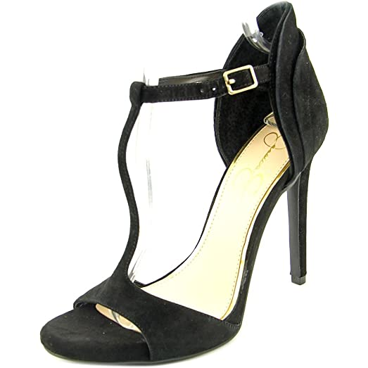 Womens Rayanna Suede Open Toe Ankle Wrap D-orsay Pumps