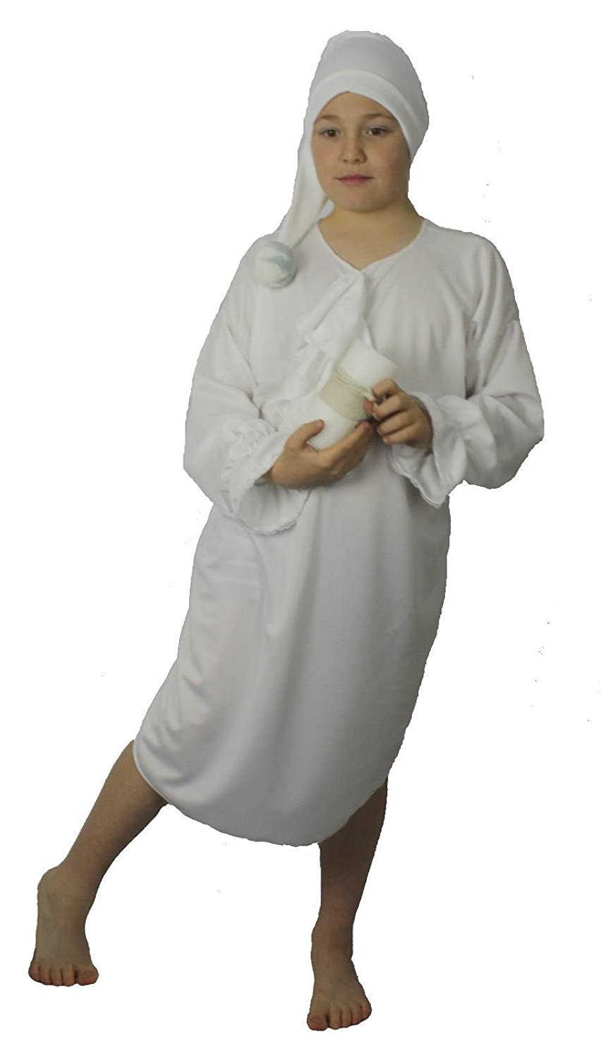 Childrens Night Gown & Hat Childs Christmas Panto Fancy Dress Book ...
