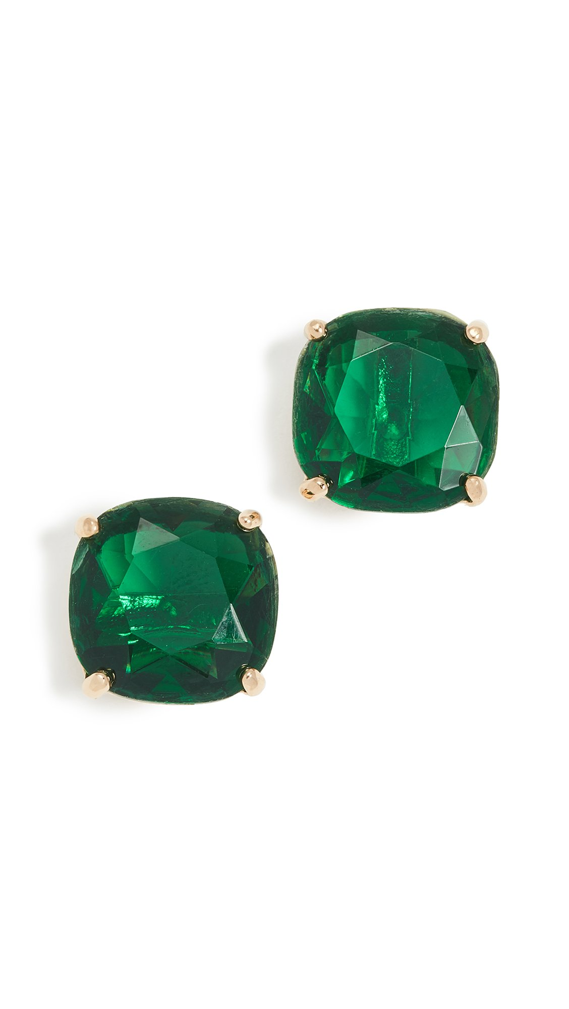 Kate Spade New York Women's Small Square Stud Earrings, Emerald, One Size