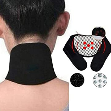 TEXXIS Support Self Protection Cervical Vertebra Spontaneous Heating Guard Neck Strap Traction Equipment