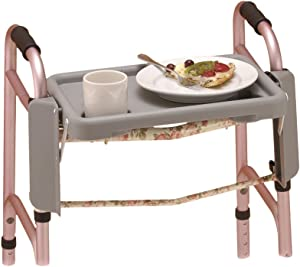 NOVA Walker Tray with Two Cup Holders, Easy Up and Down